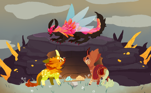 Fawning Contest by Bittersaur