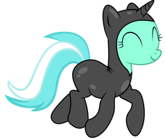 Lyra Trotting in her suit by EnemyD