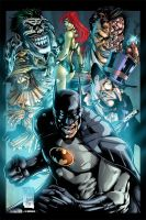 Batman's Villains by MichaelWKellarINKS