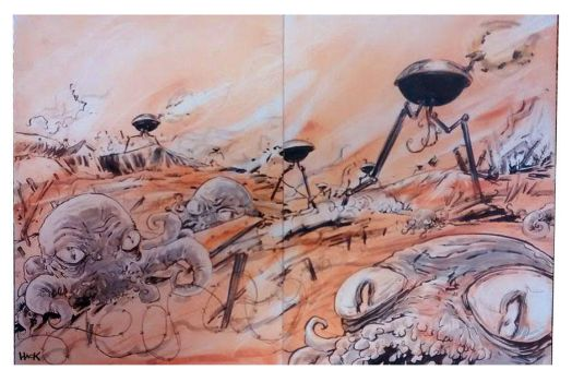 War of the Worlds convention sketch by RobertHack