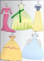 paper dresses by ProtectorKorii
