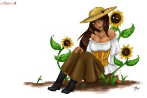 + Who walks with the sunflowers + by Cathaclysm