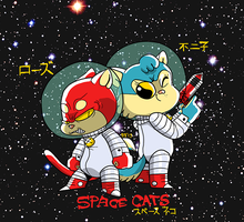 space cats by thrill-house