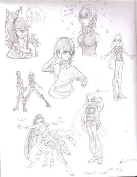 School Sketches and FLD pre-concepts by STsketch
