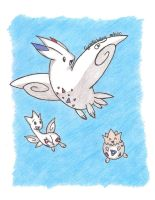 Togekiss, Tic and Pi :D by StrawberrieMew