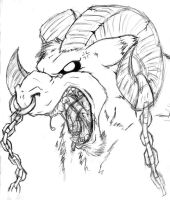 angry ram sketch by cheese-puff82