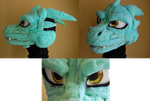 Dragon Fursuit head WIP by FiveSpice