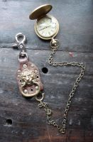 Lion Head pocket watch fob by missmonster