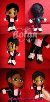 chibi Michael Jackson plush version by Momoiro-Botan