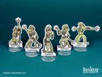 Lizardfolk Spearmen 28mm Paper Miniatures by Pasiphilo