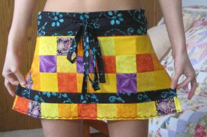 patchwork mini skirt by emicip