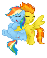 Commission:  The Honorary Wonderbolts Hug by AleximusPrime