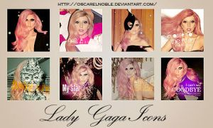 Lady Gaga Icons by oscarelnoble