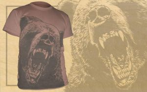 Bear Attack - Tee by scumbugg
