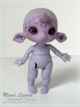 Feadoll mimu licorne purple Skin Face up by Nailyce