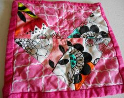 Hot Pink Chevon Hot Pad by ChaosFay