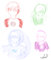 Homestuck: Kid Sketches by chichimi