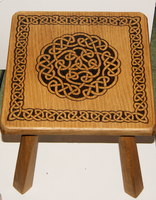 Celtic Knot Stool by llinosevans