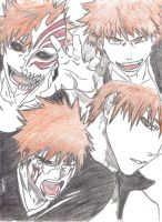 Face's of Ichigo by OmegaXzeroX566