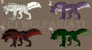 Wolf adoptable OPEN by Wolfariati