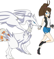 Touko and Reshiram by Maria65