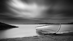 Boat BW by white-white
