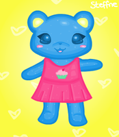 Cupcake bear for Cuppycakebear by steffne