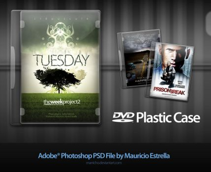 DVD Plastic Case - PSD file by mauricioestrella