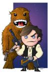 Han and Chewie by MARR-PHEOS