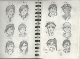 My ocs (and erin) old vs new by REIdepenguin