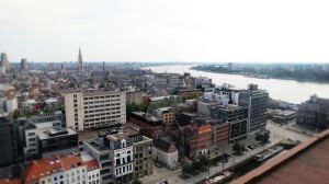 The View of Antwerpen by Downtotheriptide