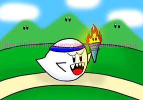 Boo Olympic Torch by Lilith13thevampire