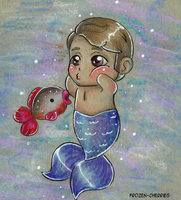 The little cannibal merman - A new friend by frozen-cherries