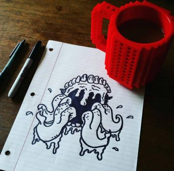 Black ink, black coffee  by ThoughtZombie
