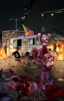 Zombie Apocalypse Pinup by ChrisSummersArts
