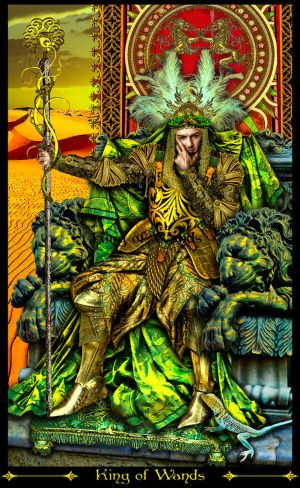 King of Wands-REVISED by Elric2012