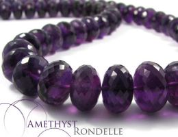 Amethyst Rondelle by BeadsofCambay