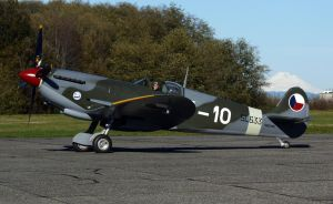 Spitfire Mk9e Taxi 4 by shelbs2