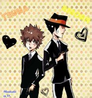 Adult Reborn and Tsuna by AlliandoAlice