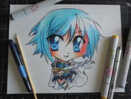 Copic Chibi Sayaka by Mireielle