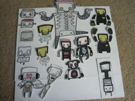 Robot sticker army by Xombiegrinn