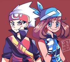 Ruby and Sapphire by LadyKuki