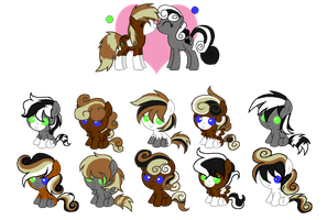 MLP:Gray Shamy Breedable Foals-OPEN- by kiananuva12