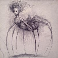 The Weaver: concept sketch by Sirenophilia