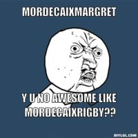 MordecaixMargret Y U NO by firekitty29