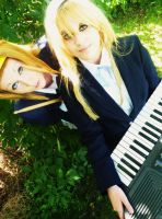 Ritsu and Mugi cosplayers - K-ON by RizaHawkeyefma