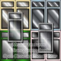Modern Glass Window Textures by roseenglish