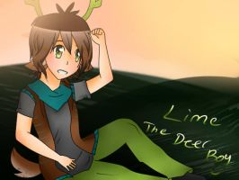 [Request for Veemonsito] Lime (Deer Boy) by aurorastar21