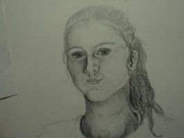 Unfinished self portrait by Jagggedstar4