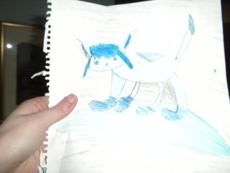 Glaceon Drawing by Flynnster-4590